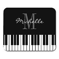 ピアニスト教師のための音楽ピアノキーモノグラムパーソナライズドプレイヤーマウスパッド