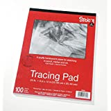 """Darice 9""""x12"""" Artist's Tracing Paper, 100 Sheets – Translucent Tracing Paper for Pencil, Marker and Ink, Lightweight, Medium Surface"""
