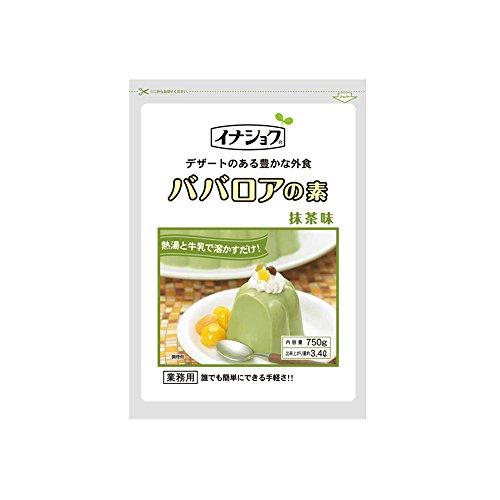 【常温】 伊那食品 ババロアの素 抹茶 750g 業務用 ババロア(ソースなし)