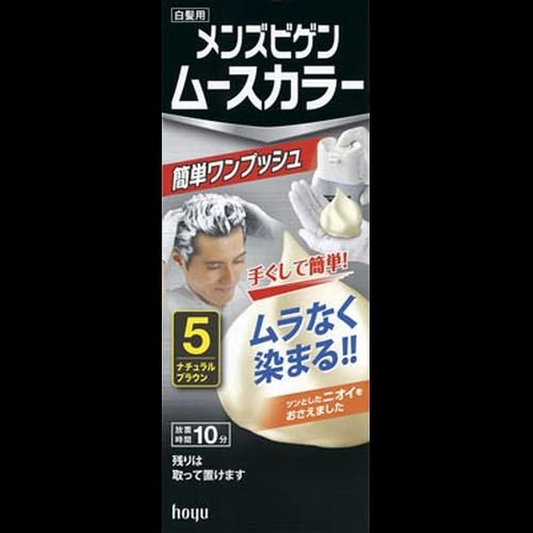 チートみ評判メンズビゲン ムースカラー 5 ナチュラルブラウン ×2セット