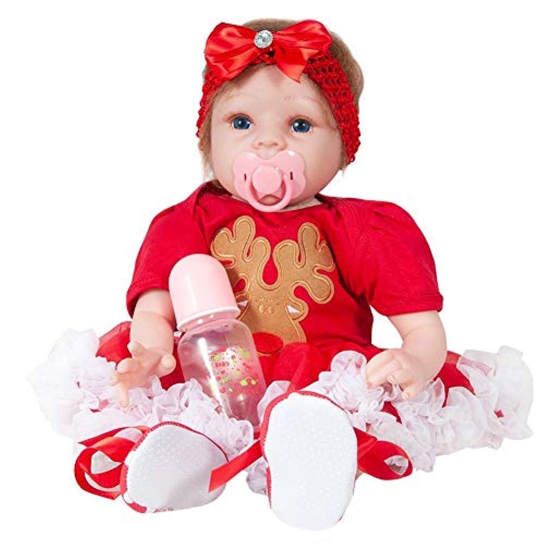 SIKIWIND シリコンクリスマスシミュレーションの人形55cmの再生の人形のシミュレーションの赤ちゃんの子供のプレイメイトの小さな人形 B