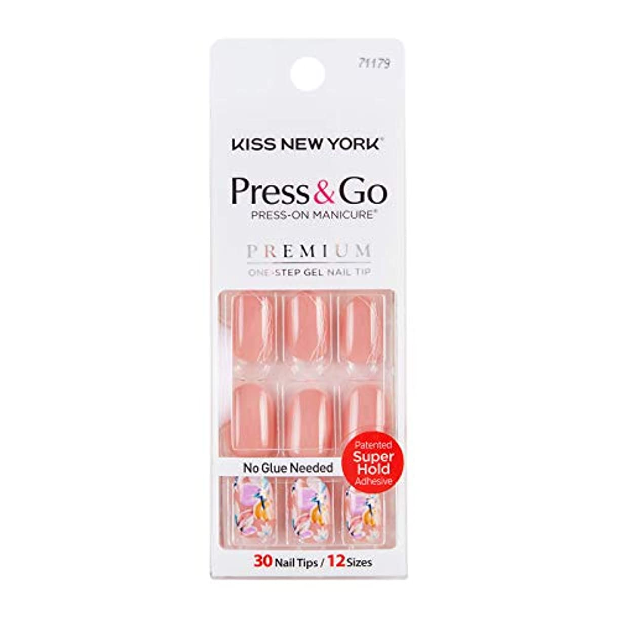 信仰ずっとパシフィックキスニューヨーク (KISS NEW YORK) KISS NEWYORK ネイルチップPress&Go BHJ27J 19g