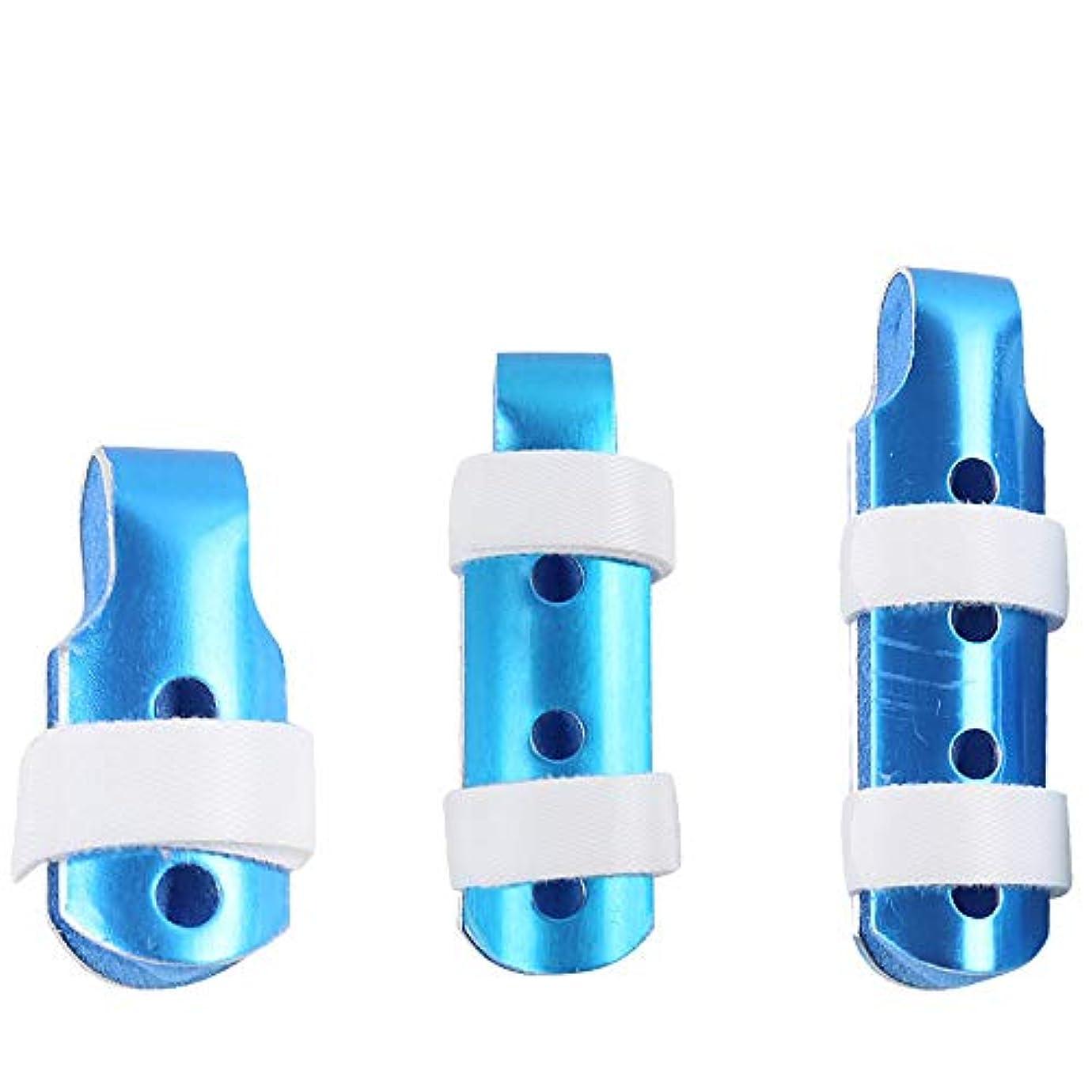 特定の金貸し特定の指の添え木、調節可能なサポート引き金、関節保護指の傷害防止用プロテクター、フックとループストラップで折り重ね(3個)