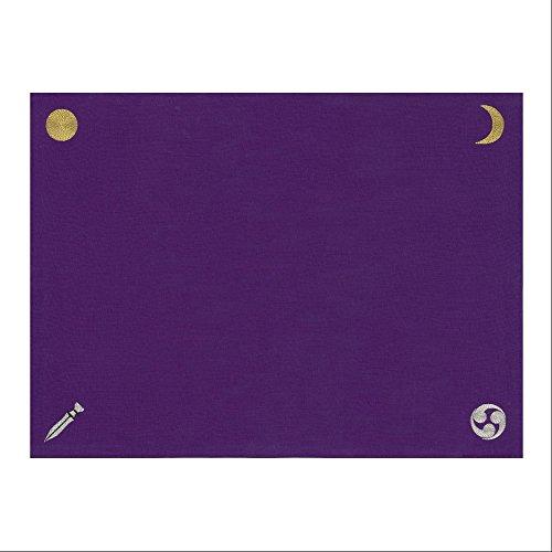 """【国産麻100% """"和""""のリーディングクロス】『日本の神様カード』リーディングマット(パープル)"""