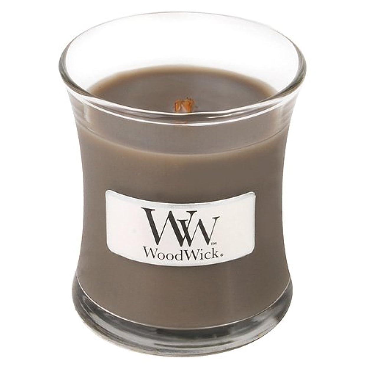 ピーク月面名前Woodwick Jar Candle (Small) (砂&流木)