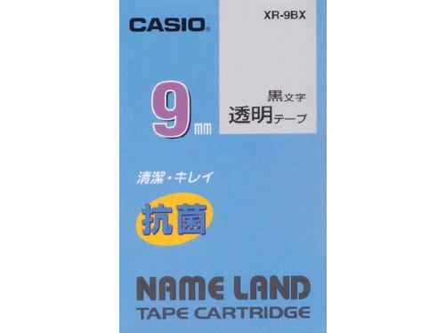 ラベルライター ネームランド 抗菌テープ 9mm XR-9BX 透明