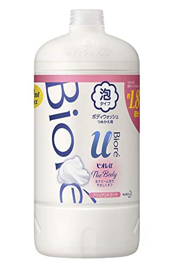 継続中ミントエスカレーター【大容量】 ビオレu ザ ボディ 〔 The Body 〕 泡タイプ ブリリアントブーケの香り つめかえ用 800ml 「高潤滑処方の生クリーム泡」