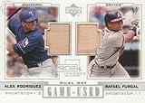 アレックス・ロドリゲス Alex Rodriguez / Rafael Furcal 2001 Upper Deck Pros&Prospects Dual Bat
