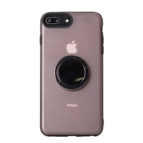 BEGALO iPhone8 Plus/7 Plus ハンドスピナー 指スピナー バンカーリング付 ケース 落下防止 360度回転 スタンド ストレス解消 ピンク HDSP-IP8P-PNK164