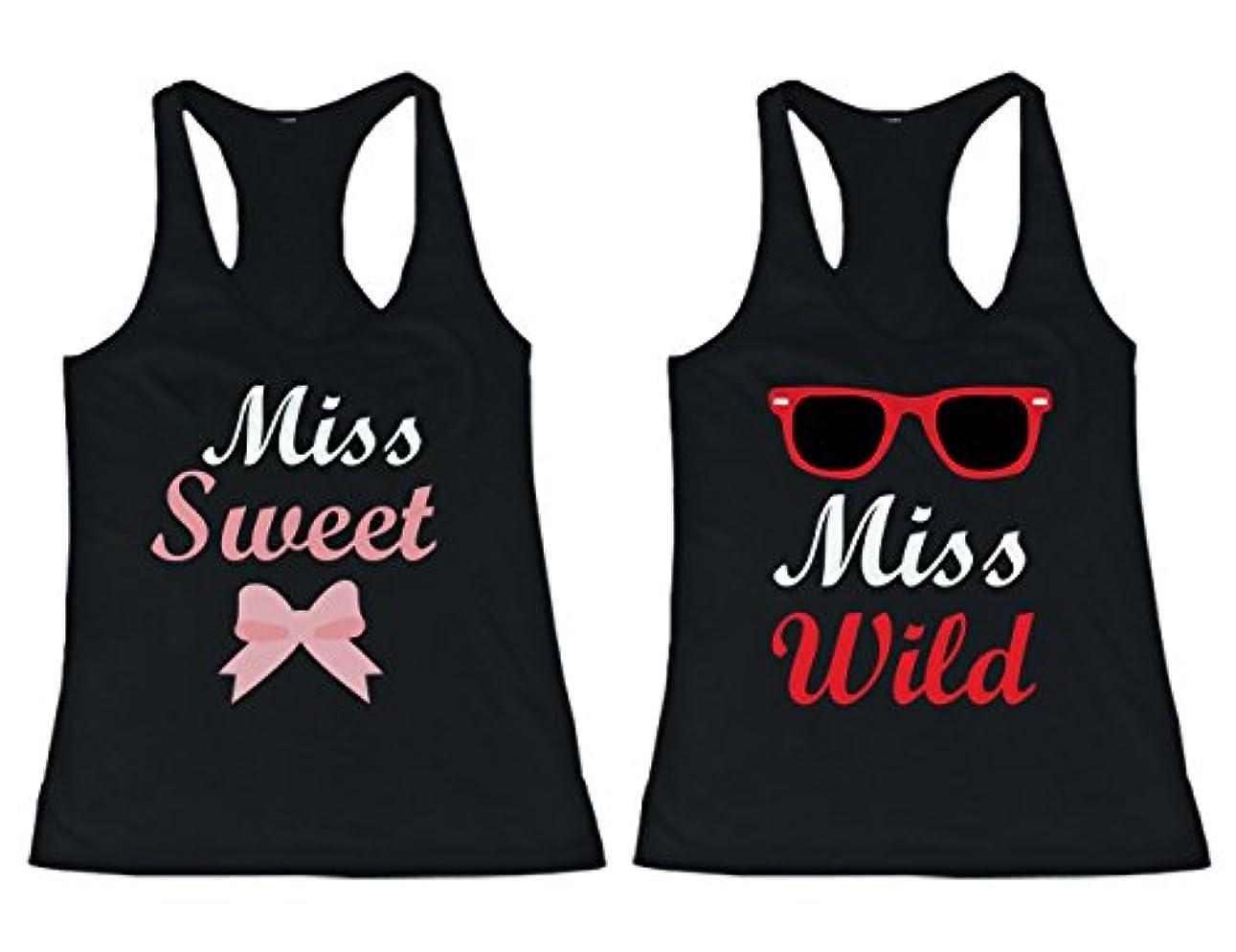 残り物完了レンチ365 Printing BFF Tank Tops Miss Wild and Miss Sweet Matching Shirts for Best Friends