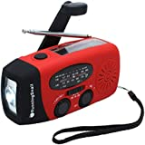 [Upgraded Version]RunningSnail Emergency Hand Crank Self Powered AM/FM NOAA Solar Weather Radio with LED Flashlight, 1000mAh Power Bank for iPhone/Smart Phone