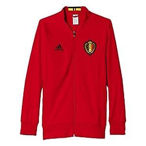 2016-2017 Belgium Adidas Anthem Jacket (Scarlet)
