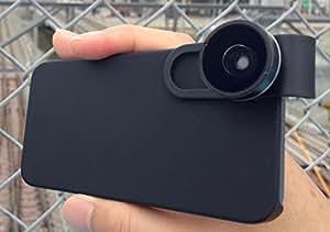 リッチマンレンズ iPhone・スマートフォン用ワイドクリップレンズ (黒) 日本語簡易マニュアル付属