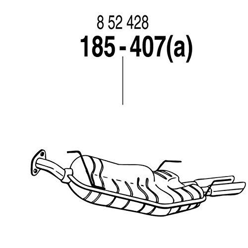 ARM 補修用 R/マフラー/スポーツ・SRi/GT不可 オペル ベクトラ B V6 セダン/ワゴン/ハッチ 95~02 XH250/250W/260 2.5-24V 125Kw/2.6-24V 125Kw[185-407]