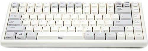 NiZ 静電容量無接点方式 35g荷重 コンパクト プログラマブル 84ボンド英語配列 PBT キーキャップ 多機能 キーボード ミニ USB 接続 EC84S
