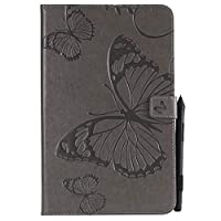 Flip Wallet Case for Samsung Galaxy Tab E 9.6 T560 (Not Fit 4G LTE) シェル Shock Protection with Card Slots Lightweight 置換 and Adjustable Stand Grey