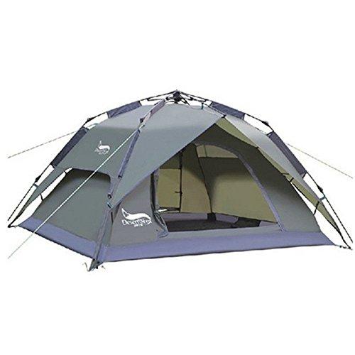 YOTECE ワンタッチテント テント 3~4人用 ワンタッチ 2WAY テント 設営簡単 防災用 キャンプ用品 撥水加工 紫外線防止 登山 折りたたみ 防水 通気性 アウトドア 3色選択可能 (アーミーグリーン)