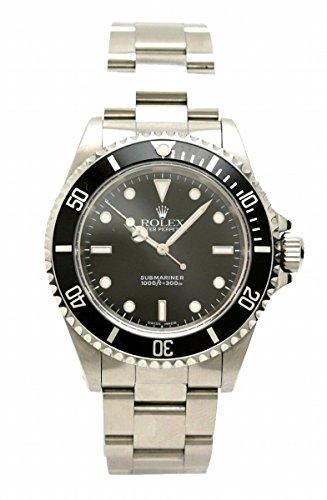 [ロレックス] ROLEX サブマリーナ ノンデイト 300m ダイバー ブラック文字盤 SS メンズ AT オートマ 腕時計 P番 14060M