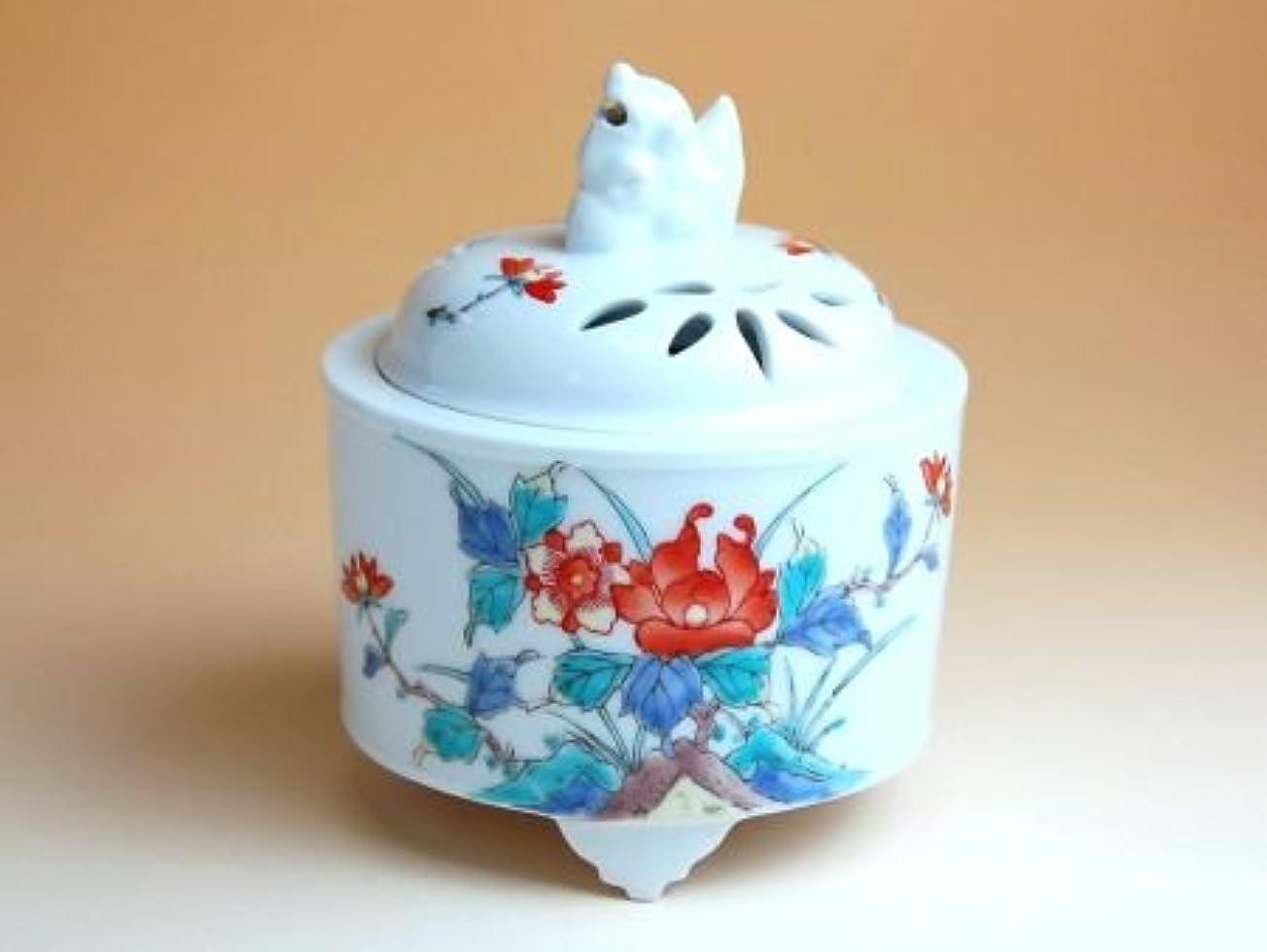 楽しむスナッチ割る有田焼 錦牡丹 竹筒(中)香炉【サイズ】径10.1cm×高さ12cm