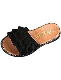 [Kukiwa] ガールズサンダル スリッパ 滑り止め 柔らかい底 シューズ キッズューズ 履き脱ぎやすい 誕生日プレゼント 発表会靴 入学式