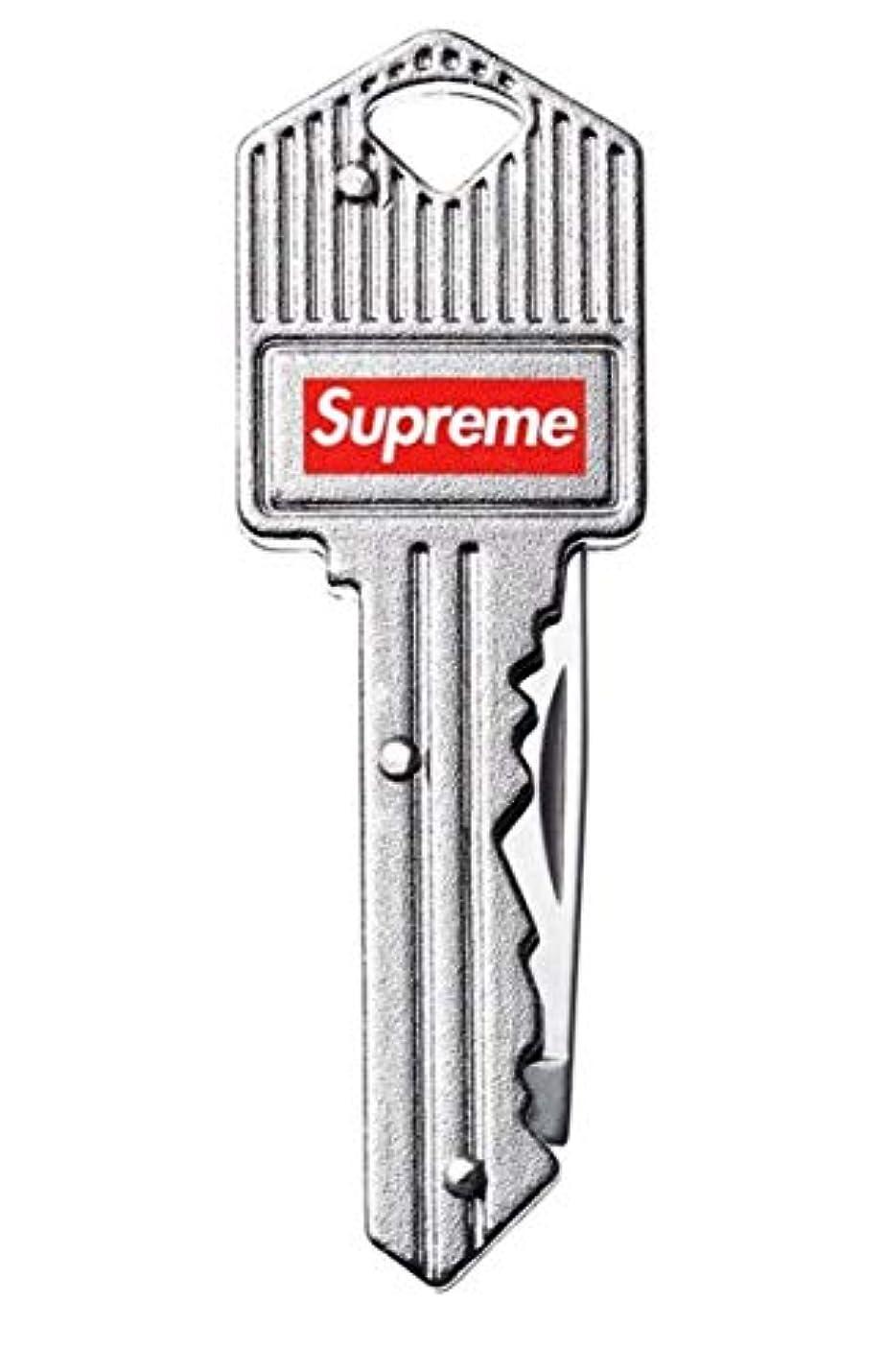 避難広告ツールSupreme Key Knife シュプリーム キーナイフ キーチェーン シルバー