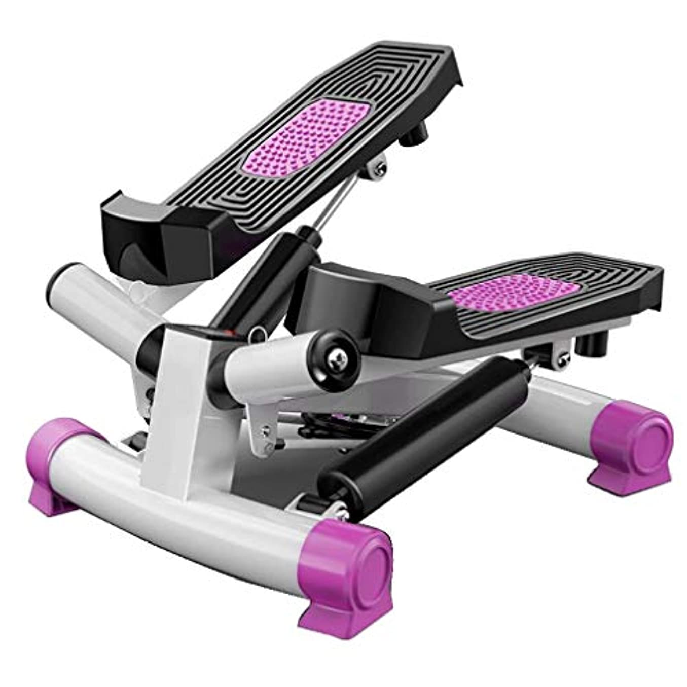 特権オーディションかみそりステップ モーション マシン,世帯 ペダルエクササイザー,フィットネス機器 ステッピング,屋内 サイクリング 自転車,液晶モニター,ホーム用 ジム トレーニング 紫の 38x39x31cm