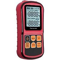 autoutletデュアルチャネルk-type熱電対温度計デジタルLCDバックライト温度メーターテスター、サポートK / J / T / E / R / S / Nタイプ、200~ 1372°C