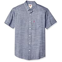Levi's Men's Brato Short Sleeve, Classic Fit, Solid Woven Shirt