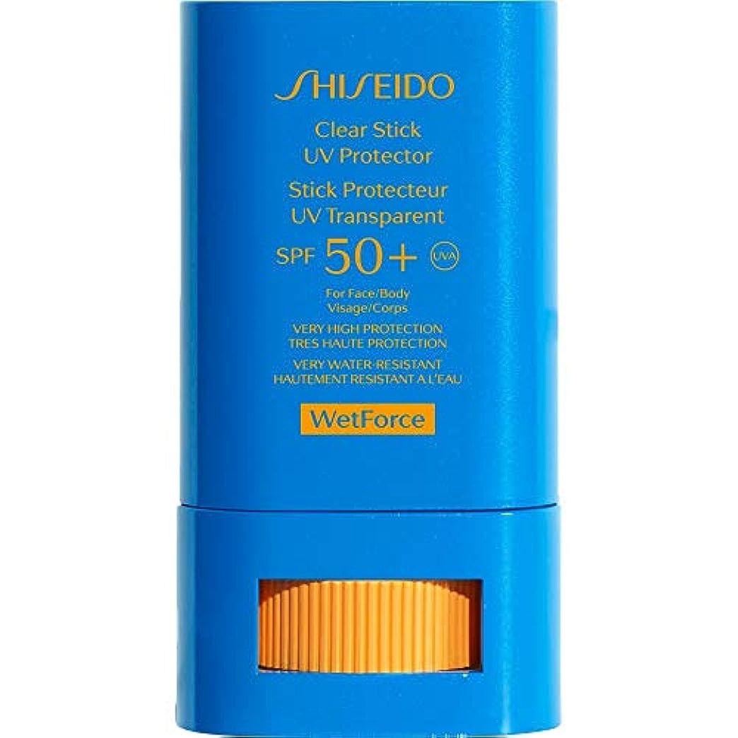 虚偽民主党征服する[Shiseido] 資生堂Wetforce明確なスティックUvプロテクターSpf50 + 15グラム - Shiseido WetForce Clear Stick UV Protector SPF50+ 15g [並行輸入品]