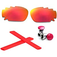 Walleva Vented Polarized Lenses + Earsocks + Bolts For Oakley Jawbone - Multiple Options Available