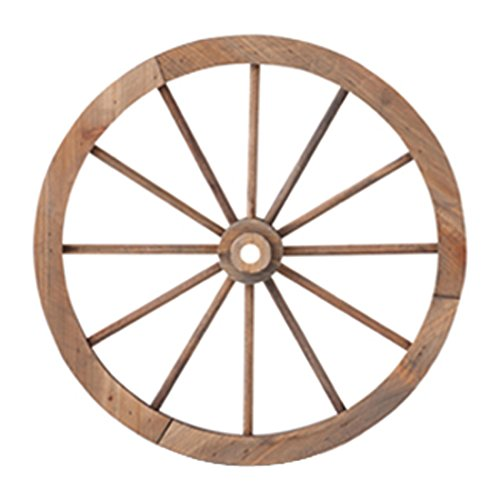 RoomClip商品情報 - PL ウォールディスプレイ アンティーク調 木製車輪 IDYLLIC GARDEN ガーデンウィール M 直径45.5cm ブラウン 40877
