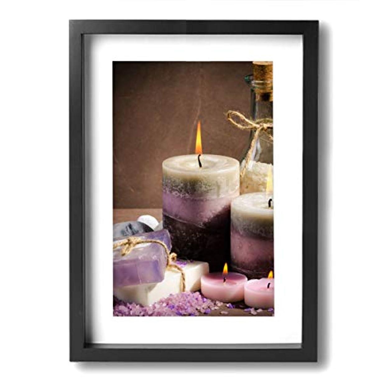 噛む姓理解する魅力的な芸術 20x30cm Spa Purple Color Candle Oil キャンバスの壁アート 画像プリント絵画リビングルームの壁の装飾と家の装飾のための現代アートワークハングする準備ができて