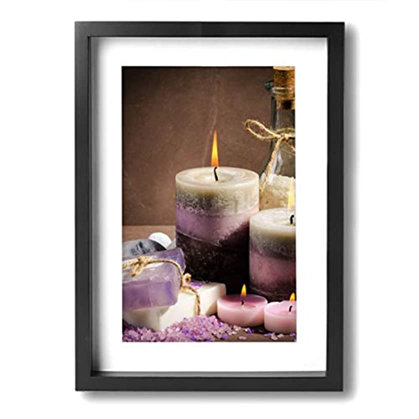 魅力的な芸術 20x30cm Spa Purple Color Candle Oil キャンバスの壁アート 画像プリント絵画リビングルームの壁の装飾と家の装飾のための現代アートワークハングする準備ができて
