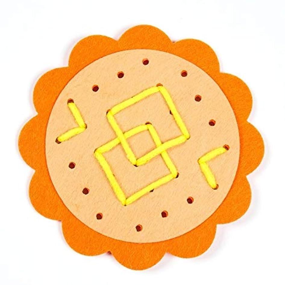 貸すお父さんオリエンテーションインテリジェンスおもちゃ グレート3 PCS幼稚園マニュアルDIY非織り布ベビーアーリーラーニング教育玩具(赤) (Color : Orange)