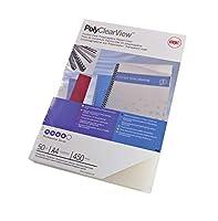 Acco GBC Polyclearビューカバー350ミクロンa4100パックFrosted Clear/Matt