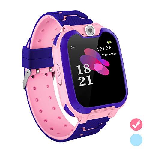 5bf1158ffd95e9 子供スマートウォッチ キッズ電話腕時計 タッチスクリーン 多機能 音楽 カメラ 目覚まし SIMカード対応