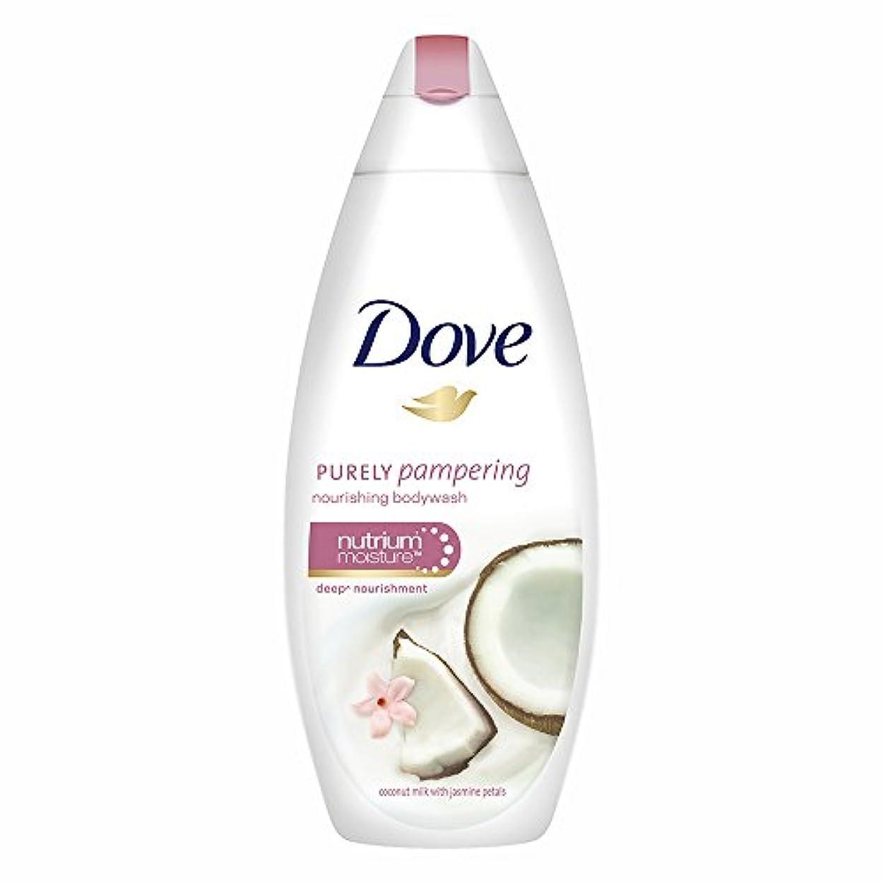 霜定刻メンバーDove Purely Pampering Coconut Milk and Jas Petals Body Wash, 190ml