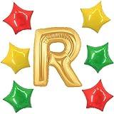 アドワン 数字 風船 バルーン 飾り付け 誕生日 ゴールド 大きい 数字1~9 文字 記念日 お祝い (R)