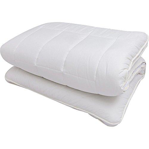 敷布団 三層 ボリューム 着脱式 洗える 体圧分散 防ダニ アイボリー シングル -