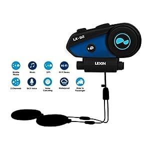 LEXIN バイクインカム bluetooth防水インターコム 同時通話 高音質GPS案内 ノイズキャンセラー日本語取扱 …