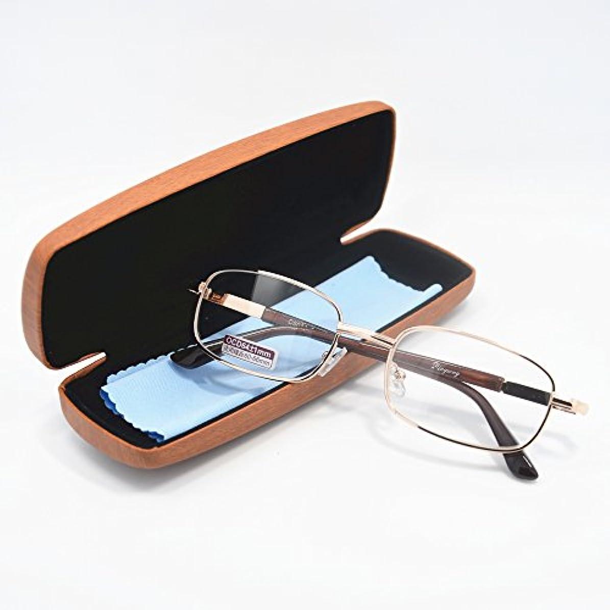 庭園展開する配列クラシックメタルフレーム老眼鏡 おしゃれリーディンググラス 度数「+0.50~+6.00」19度数選択可能 (+1.75)
