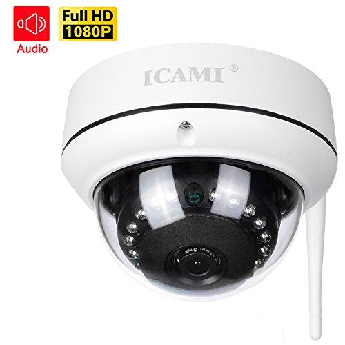 ICAMI 防犯カメラ HD 1080P ワイヤレス IP ...
