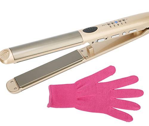 Aiyukakiヘアアイロン カール 2way プロ仕様150-210°C セラミック表面発熱25mm ハイパワーヒーター搭載 海外対応 ホワイト