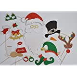 Santa Claus Hat and Beard Photo Booth Props Reindeer Noses ELF