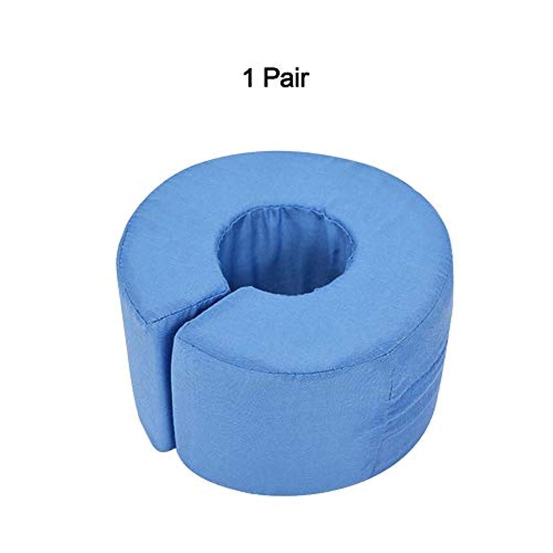 松明振る舞い学習軽量フットハンドフォームエレベータークッション、足首関節休息サポート枕、足の圧力を和らげる、1ペア,Blue