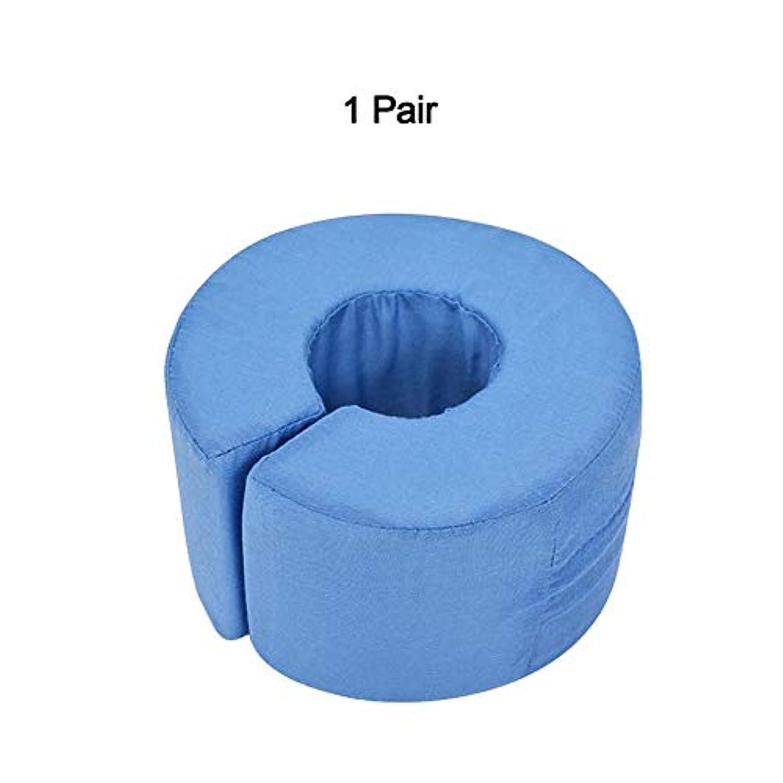 軽量フットハンドフォームエレベータークッション、足首関節休息サポート枕、足の圧力を和らげる、1ペア,Blue