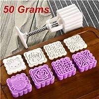 オプション25g 50g 75gムーンケーキモールドDIYムーンケーキツールプラスチックペストリーケーキプランジャーハンドプレスムーンケーキモールドキッチン用品:JG02