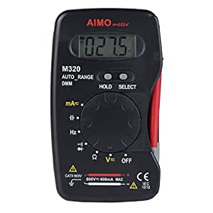 AIMOmeter M320 Pocket Size Auto range Handheld Digital Multimeter DMM Frequency Capacitance Measurement Data Hold by Aimometer