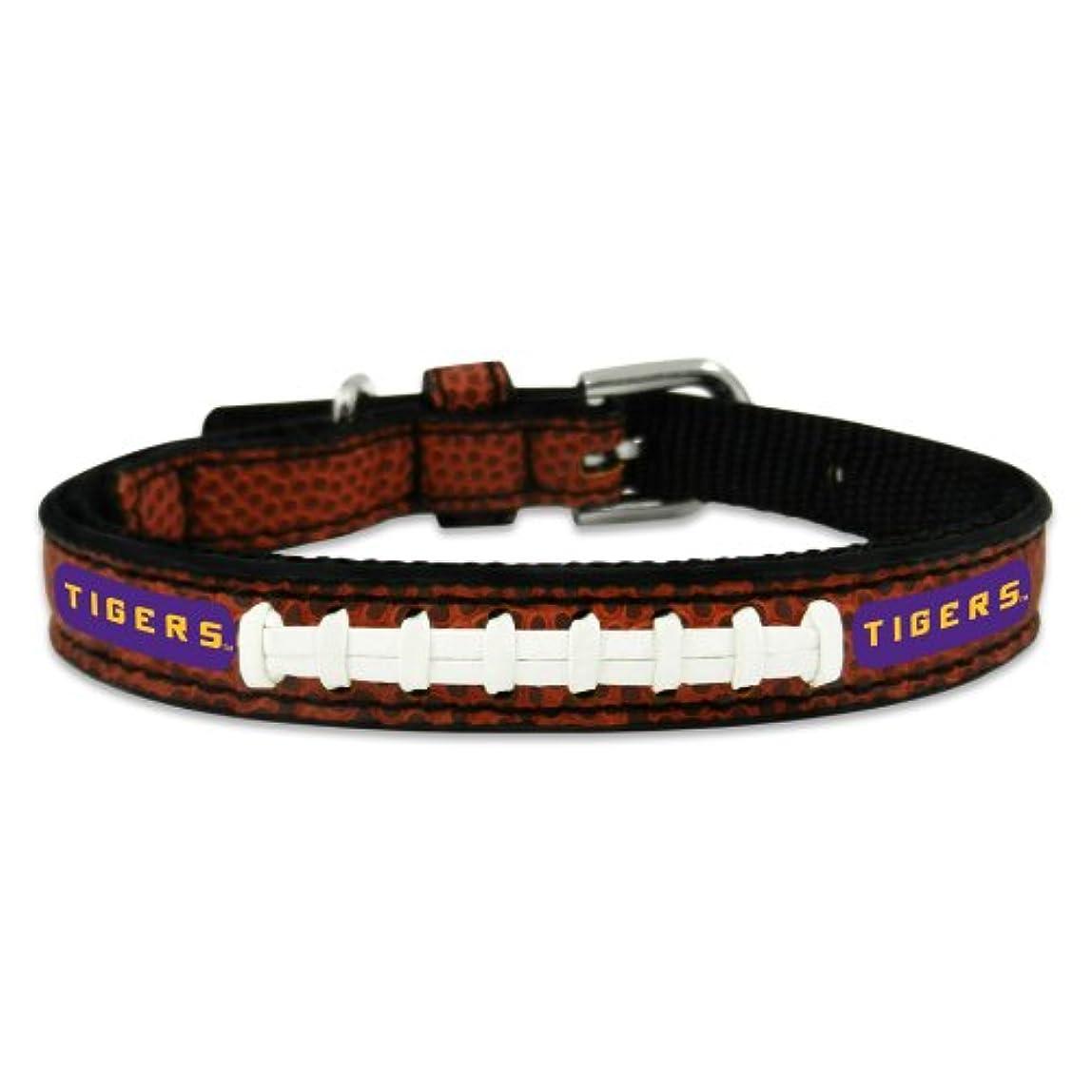 中級信条オピエートLSU Tigers Classic Leather Toy Football Collar