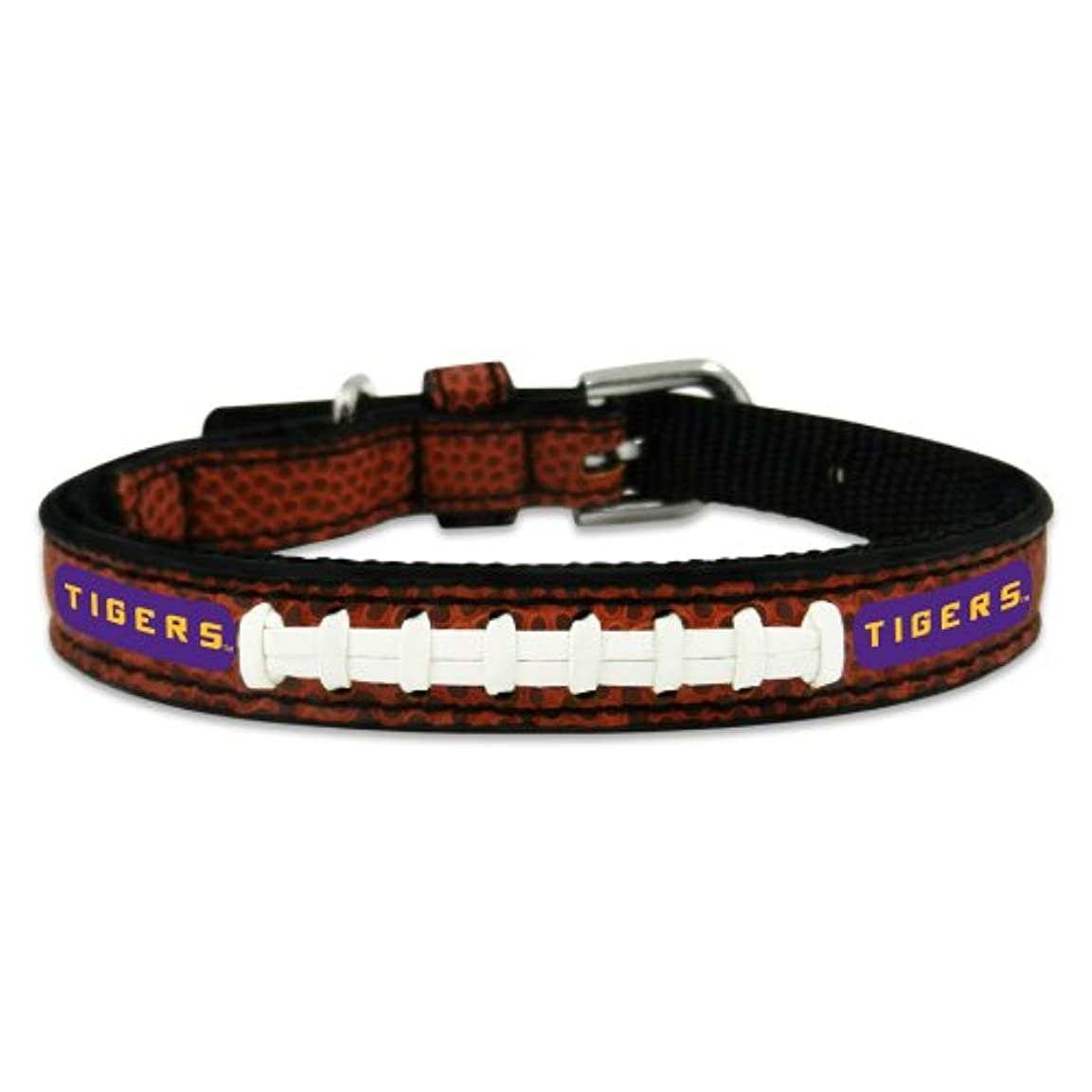 メダルメダルメニューLSU Tigers Classic Leather Toy Football Collar